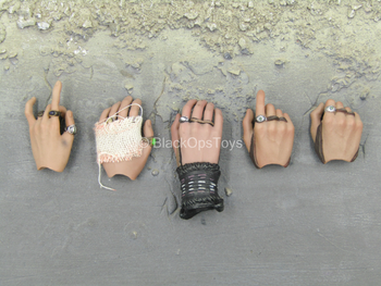 POTC DMC Jack Sparrow - Male Hand Set w/Rings Type 2 (x5)