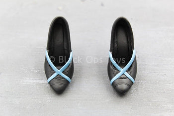 Kainé - Black & Blue High Heel Shoes (Foot Type)