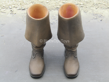 POTC DMC Jack Sparrow - Brown Pirates Boots (Peg Type)