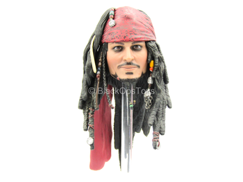 POTC DMC Jack Sparrow - Male Head Sculpt w/Johnny Depp Likeness
