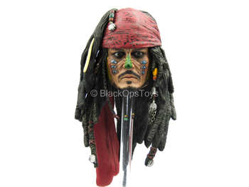 POTC DMC Jack Sparrow - Male Face Painted Head Sculpt