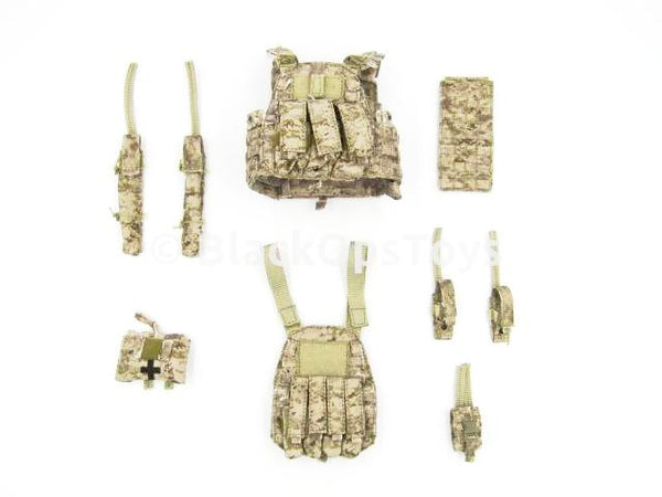 Easy & Simple 26009R SMU Tier 1 Navy Seal Zero Dark Thirty Operator Type A AOR Vest & Pouch Set