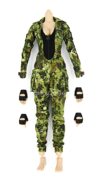Female Shooter - Jungle Python - Base Body w/Kryptek Uniform Set