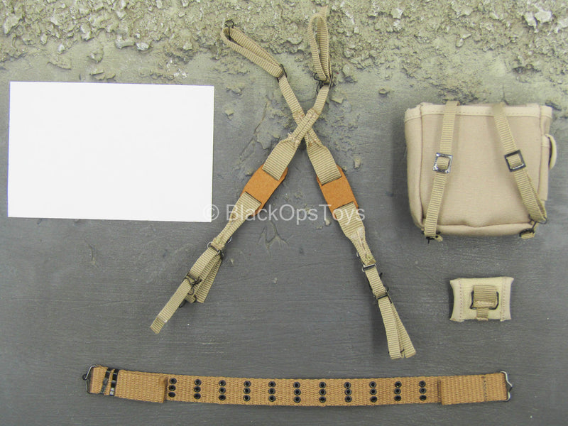 WWII - US Platoon Leader - Rivet Belt w/Suspenders & Pouch Set