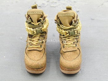 BOOT - Tan Female Boots (Peg Type)