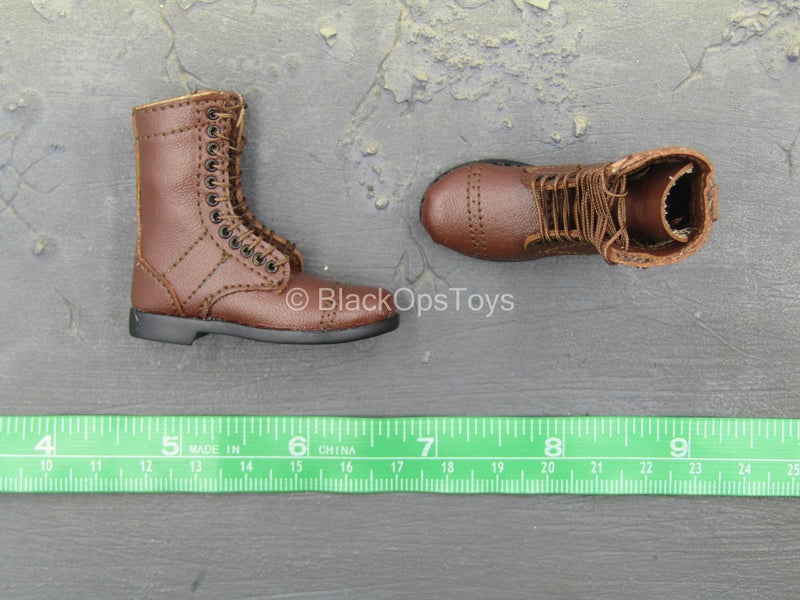 WWII - US Platoon Leader - Brown Paratrooper Boots (Foot Type)