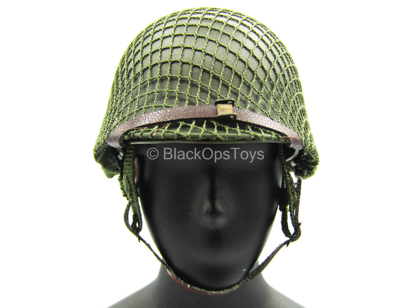 WWII - US Platoon Leader - Green Metal Helmet w/Wraps