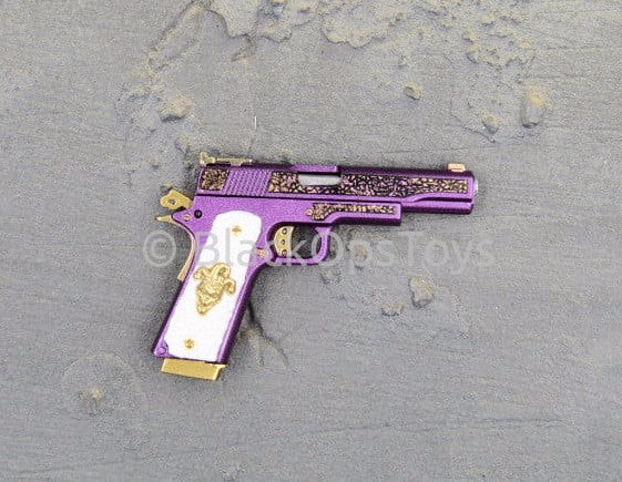 Hot Toys Suicide Squad Joker Purple Coat Version 1911 Pistol