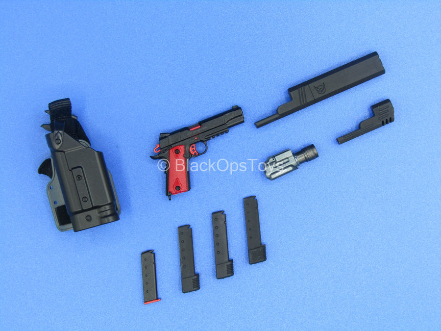 "Custom - ""Chillan"" 1911 Pistol w/Suppressor & Extended Mag Set"