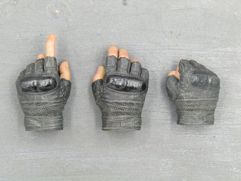 GI JOE - Roadblock - Black Fingerless Gloved Hand Set (x3)