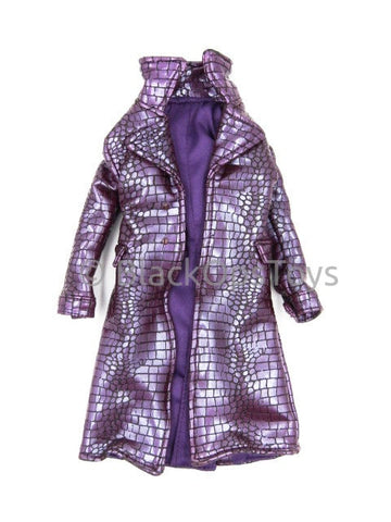 Hot Toys Suicide Squad Joker Purple Alligator Skin Trench Coat