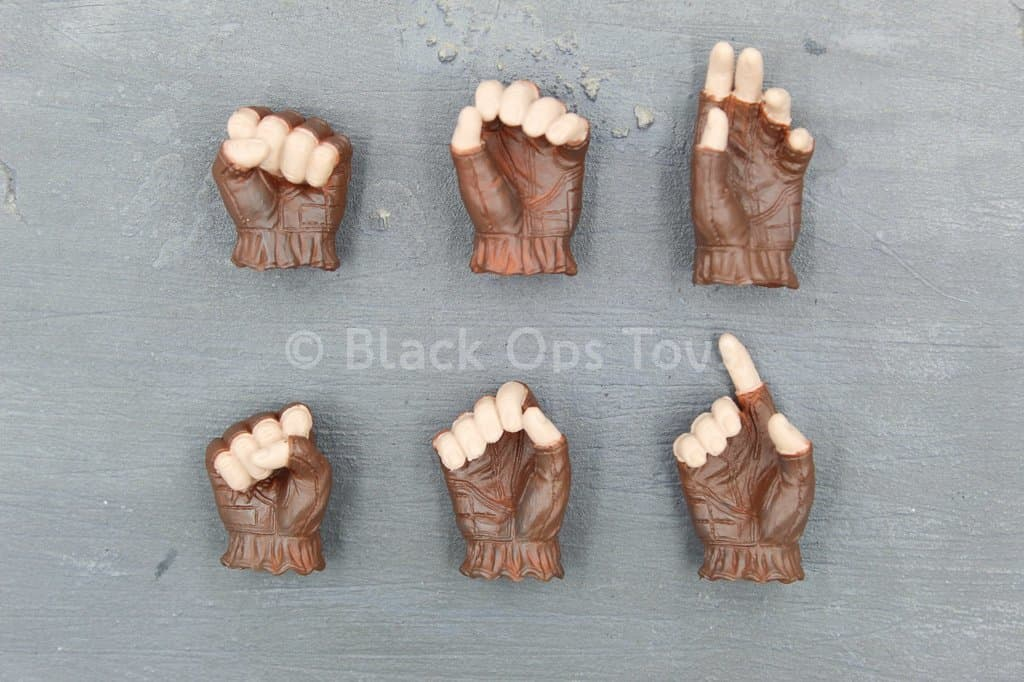 TMNT - Casey Jones - Brown Fingerless Gloved Hand Set (x6)