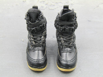 BOOT - Black Air Force 1 Female Special Forces Boots (Peg Type)
