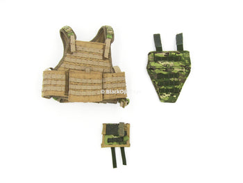 "Doomsday End War Death Squad ""K"" Caesar Call Of Duty Ghosts Tan Tactical Vest Set"