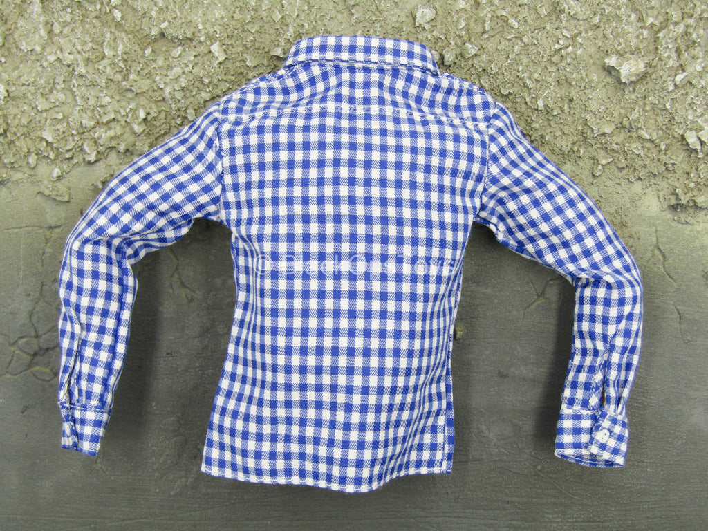 Men's Retro Leather Suit - Plaid-Pattern Shirt