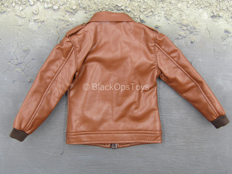 Men's Retro Leather Suit - Leather-Like Jacket