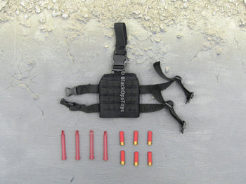 "Doomsday End War Death Squad ""K"" Caesar Call Of Duty Ghosts Black Drop Leg Holster w/Shotgun Shells & Light Sticks"