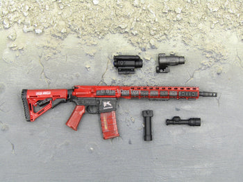 "Doomsday End War Death Squad ""K"" Caesar Call Of Duty Ghosts Red M4 Rifle Set"
