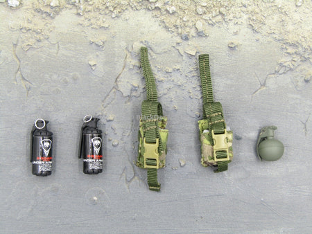 "Doomsday End War Death Squad ""K"" Caesar Call Of Duty Ghosts Multicam Pouch & Grenades Set"