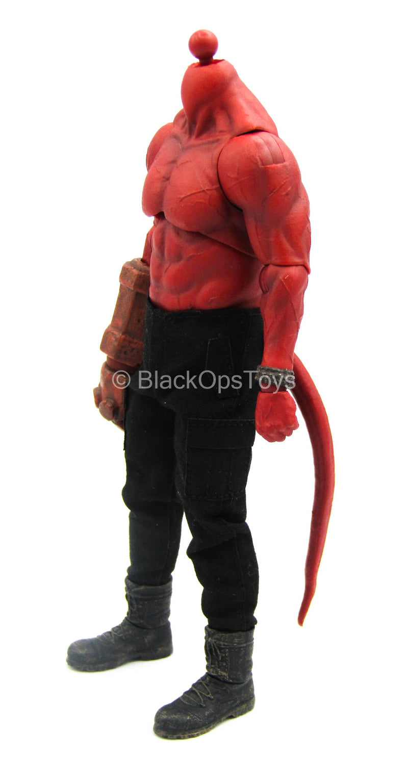 1/12 - Hellboy 2019 - Red Male Base Muscular Body w/Hand Set