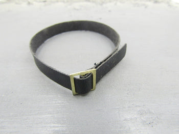 U.S.M.C. Drill Sergeant Black Leather-like Belt w/Buckle