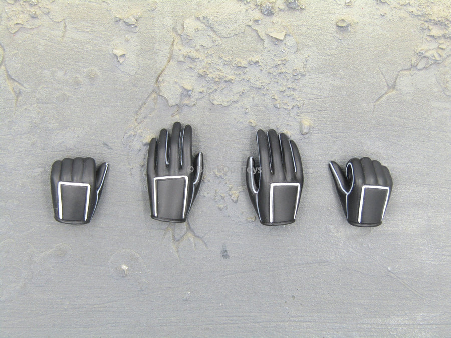 Handywoman Female Black Gloved Hands x4