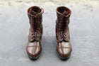 WWII - 82nd Airborne Division - Brown Combat Boots (Foot Type)