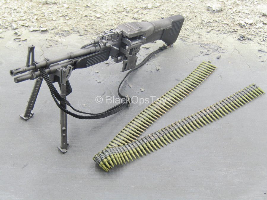WWII - US SF - Kevin Yates - M60E3 Machine Gun w/Ammo Belt