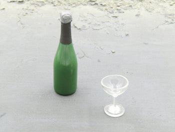 James Bond 007 - Champagne Bottle & Glass