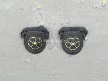 Lady Samurai - Black & Gold Like Female Knee Pads