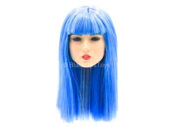 Virtual Girl - Joi - Female Head Sculpt w/Blue Hair