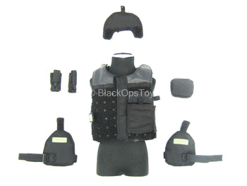San Francisco - Sheriff - Black Plate Carrier Vest w/Pouch Set