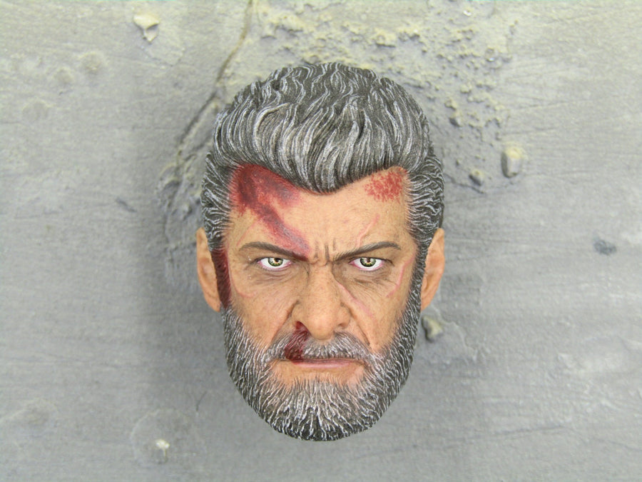 Wolverine Logan Steel Wolf Head Sculpt Bloody Mint In Box