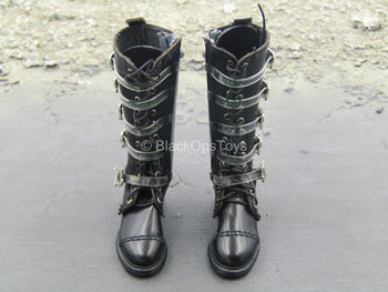 Virtual Girl - Joi - Black Female Boots (Foot Type)