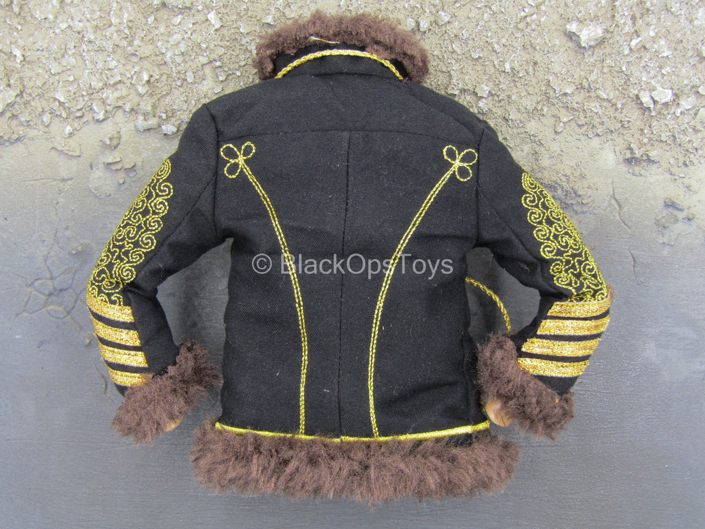 Jimi Hendrix - Embroidery Jacket w/Fur-Like Lining