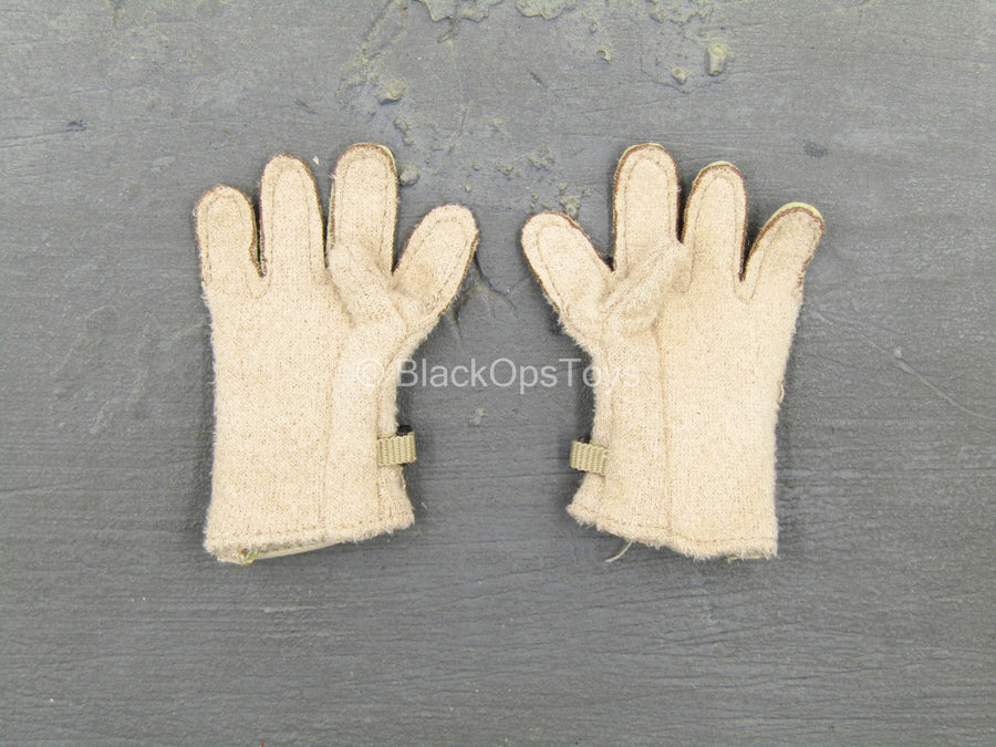 Tan Leather-Like Rappelling Gloves