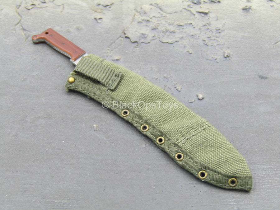 WWII - British Sergeant - Machete w/OD Green Sheath