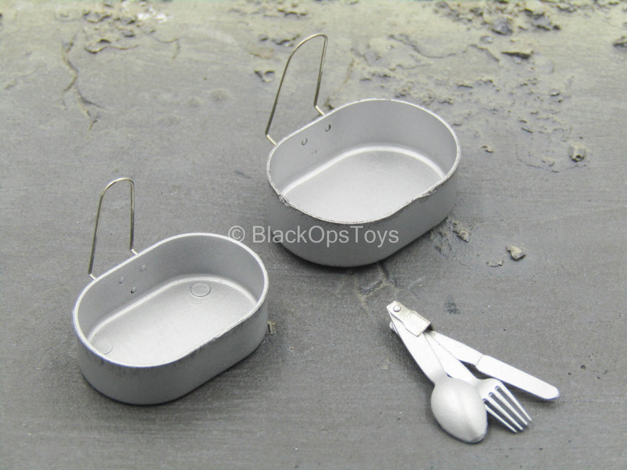 WWII - British Sergeant - Pan & Silverware Set