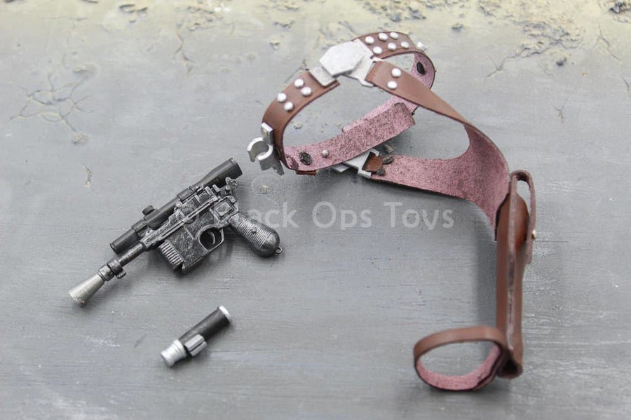 Star Wars - Han Solo - Blaster Pistol w/Leather Like Belt Holster