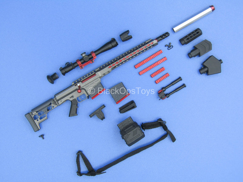 "Custom - ""Echo"" Grey Barrett MRAD Sniper Rifle w/Attachment Set"