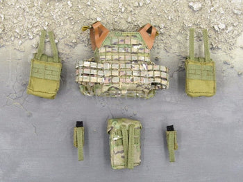 Easy & Simple MARSOC Lightweight Machine Gunner MSOT Sharpshooter Multicam Carrier Plate & Pouches Set