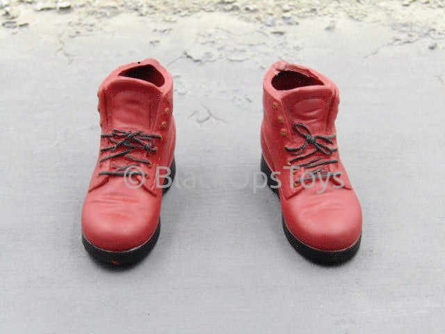Dee Jr. New Generation Gangster Red Rubber Boots (Foot Type)