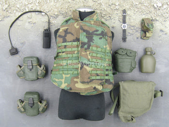 Heavy Machine Gun Team - Woodland Combat Vest Set (Type 1)
