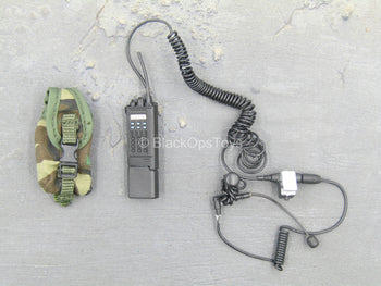 Black Radio w/Headset & Woodland Radio Pouch