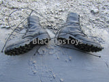 Guevara Weathered Foot Type Black Combat Boots