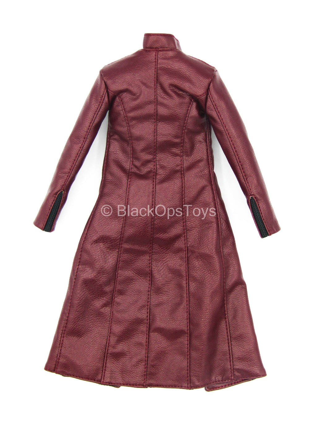 Phoenix Lady - Red Leather Like Trench Coat