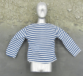 US Army - Blue & White Striped Long Sleeve Shirt