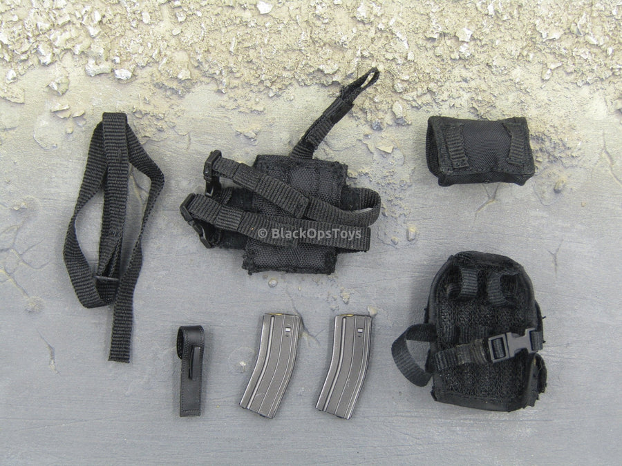 Black Tactical Ammo Pouches and Accessories Set