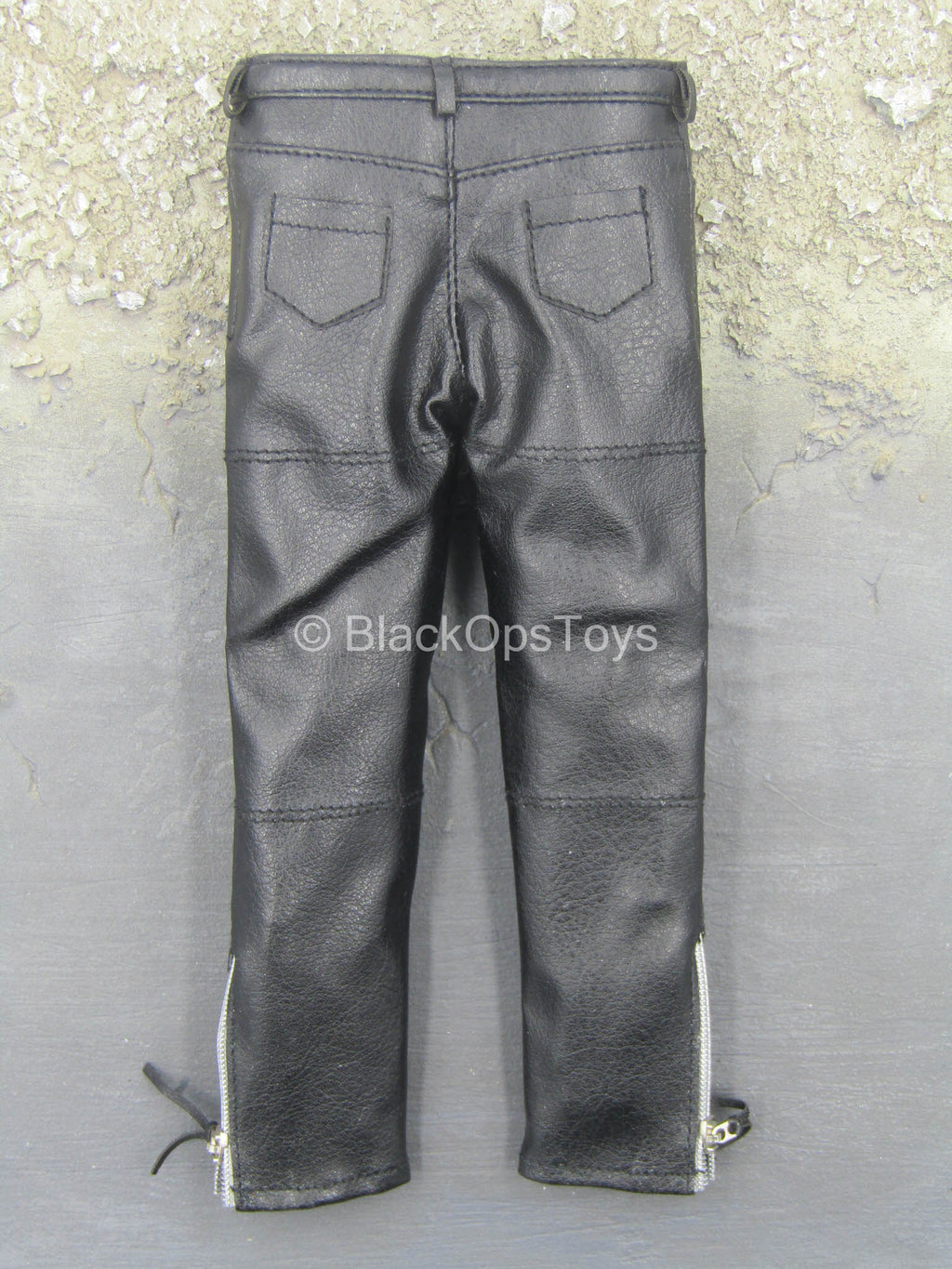 Terminator - Biker Apparel - Black Leather Like Pants
