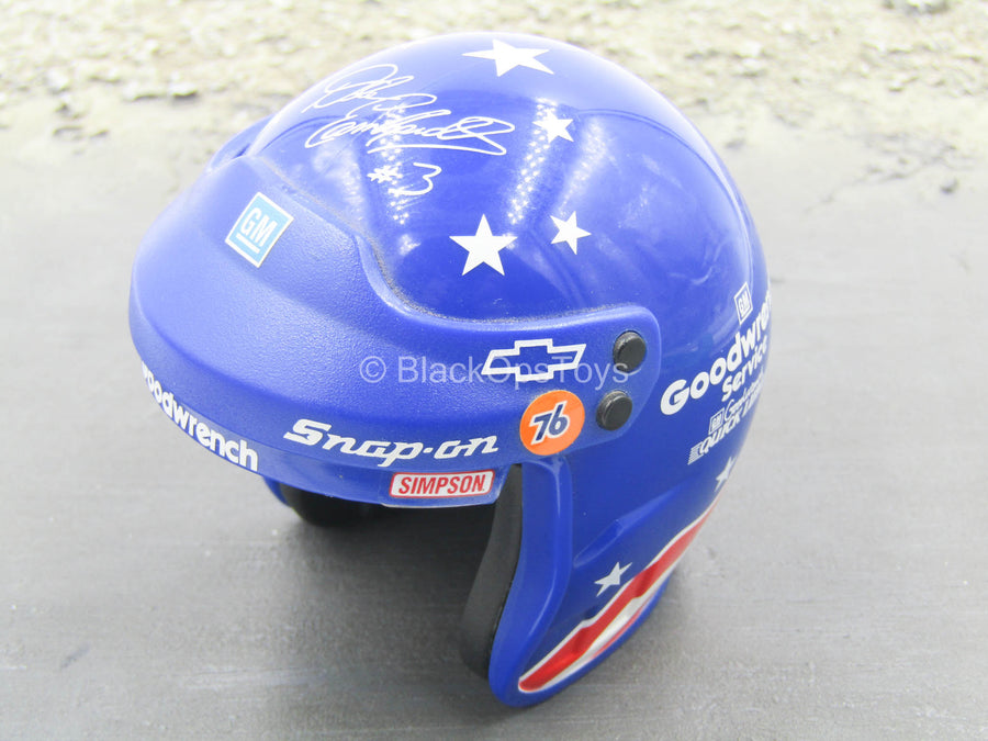 1/4 - Racing Helmet w/Stars & Red & White Stripes